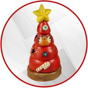 Sapin de Noël andin en terre cuite